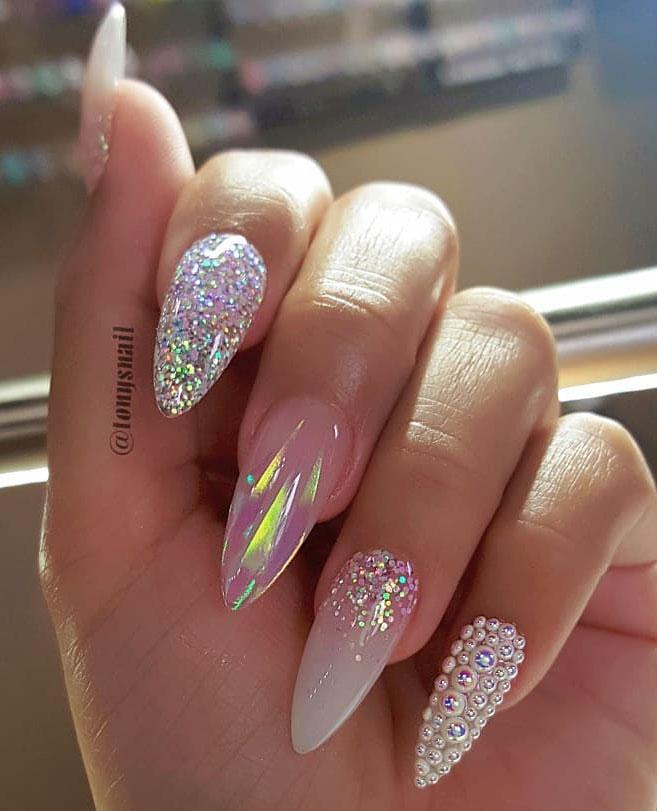 Impresionantes Diseños de uñas para bodas y un verdadero wow nailart 16