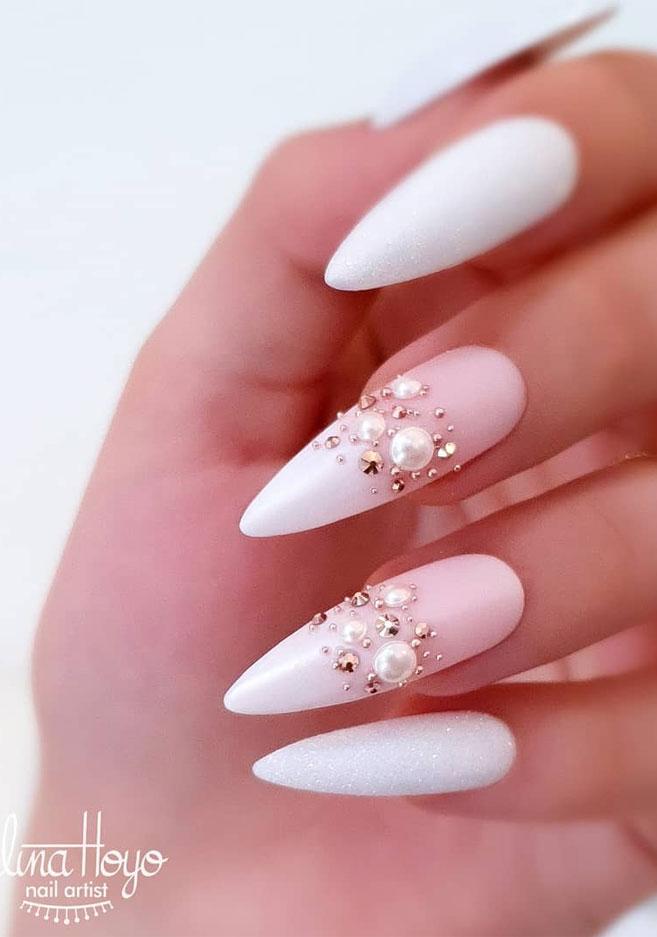Impresionantes Diseños de uñas para bodas y un verdadero wow nailart 20