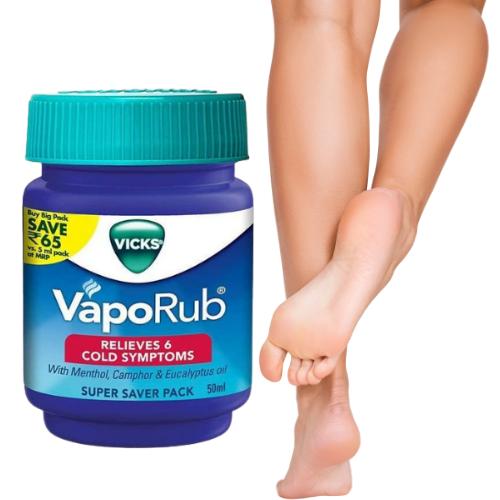 Vicks Vaporub Alivio del dolor de cabeza tos resfriado gripe nariz bloqueada y ablandamiento de pies y uñas