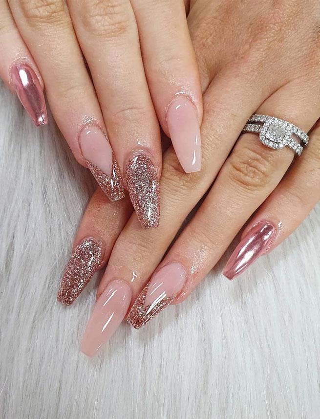 diseños de uñasen acrilico fuente instagram nailsbyelectra