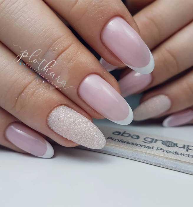 diseños de uñas francesas fuente instagram plotkara.stylizacja.paznokci