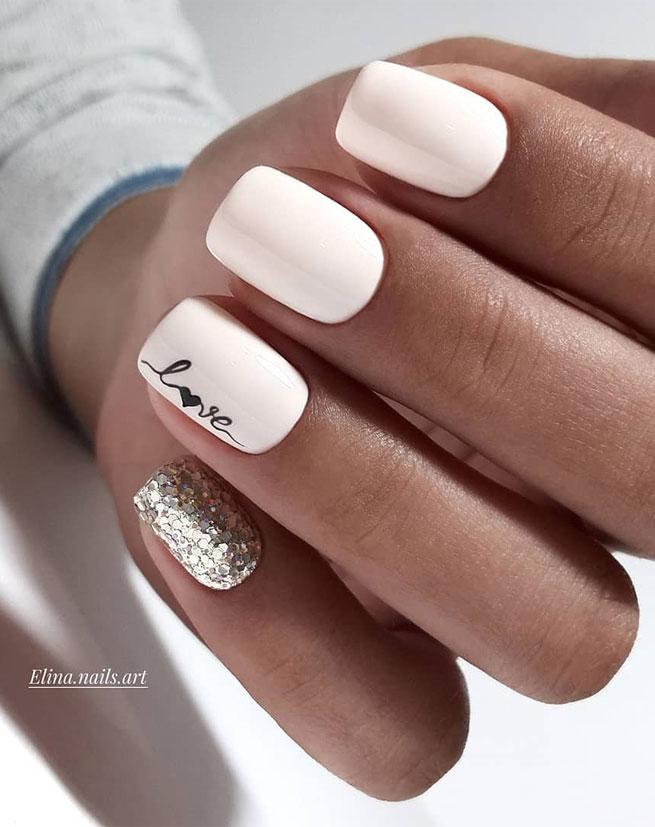 diseños para uñas cortas blancas fuente instagram elina.nails.art